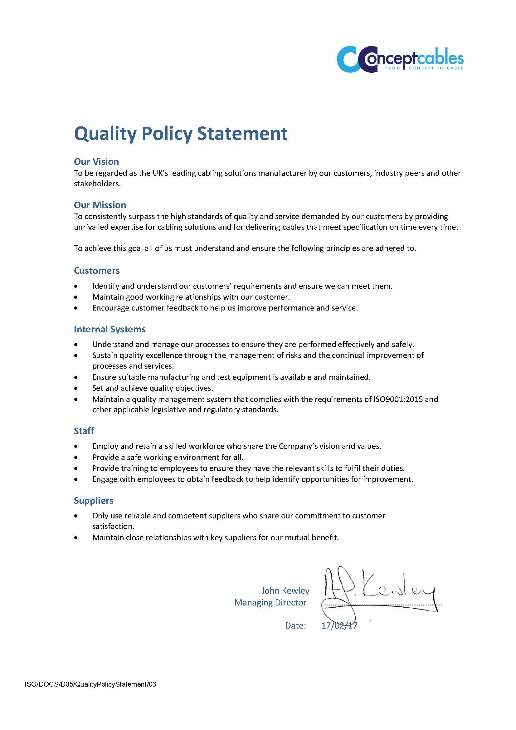 D05 Quality Policy Statement.03 e502a